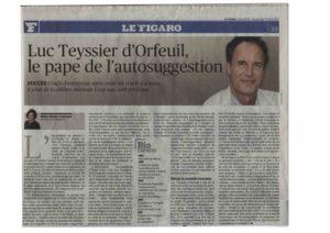 Article Figaro Méthode Coué Luc Teyssier d'Orfeuil
