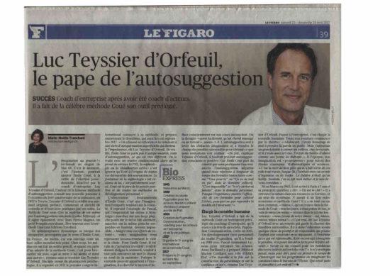 La Méthode Coué dans le Figaro
